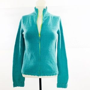 {Anthro} Sleeping On Snow Sz Small Zip Up Cardigan